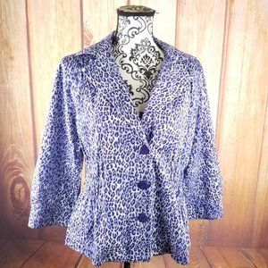 Joan Rivers Career Button Blazer Jacket
